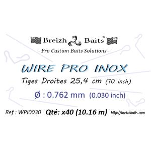 Tiges droites WIRE PRO INOX