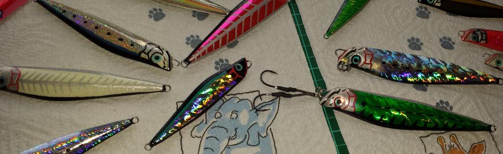 jigs custom décorés avec la gamme Breizh Foils holographiques